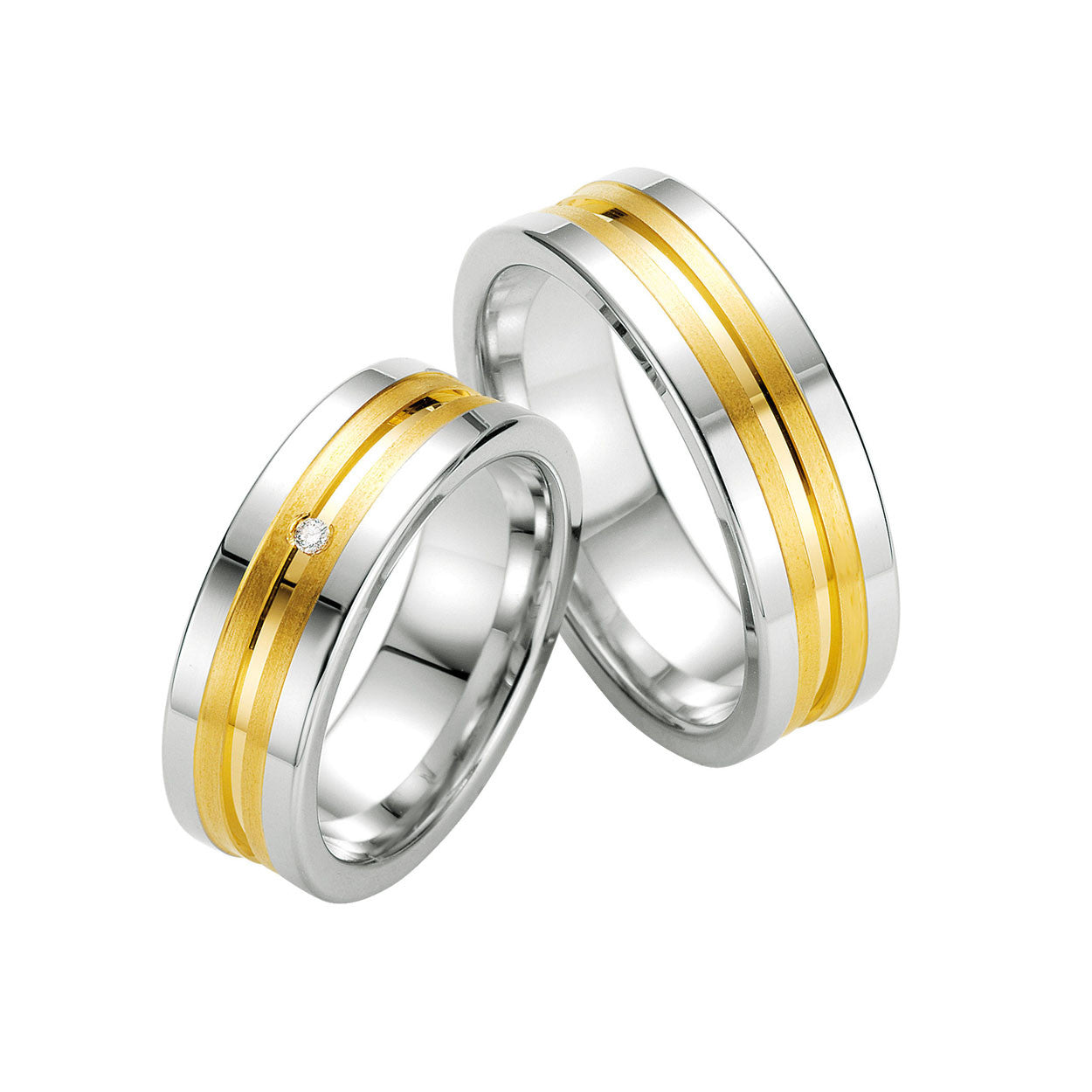 in fingerprint matching yellow gold and inlay heart bands band wedding rings set ring platinum