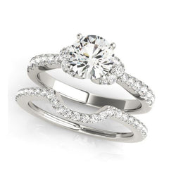 Diamond Engagement Ring in White Gold No Credit Financing