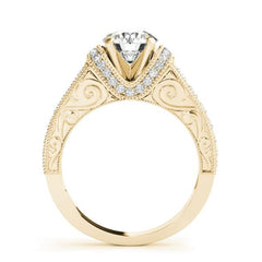 Yellow Gold Vintage Diamond Engagement Ring