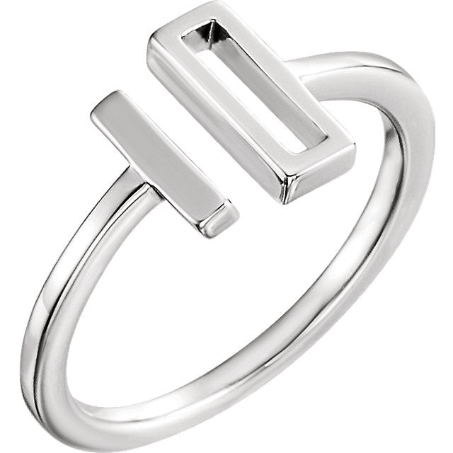 Double Bar Open Space Ring
