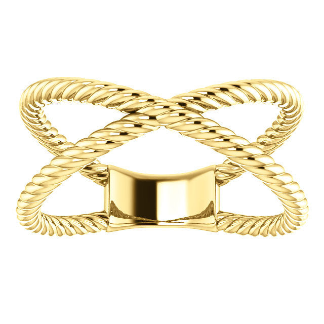 Criss Cross Rope Ring