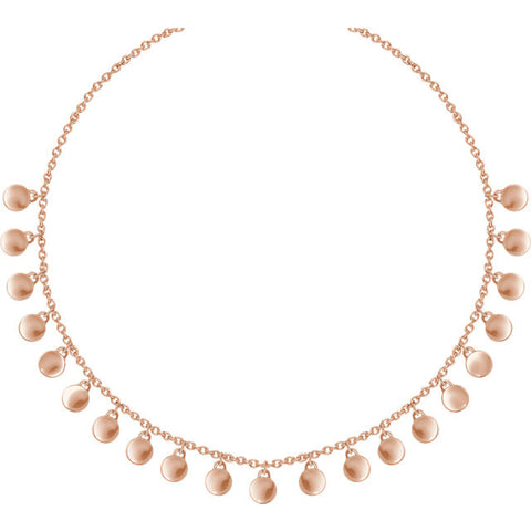 Rose Gold Gypsy Necklace
