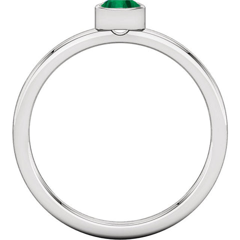 Emerald Bezel Ring