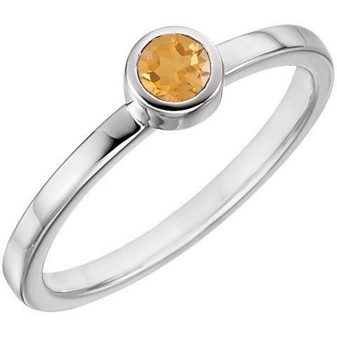 Citrine Bezel Ring
