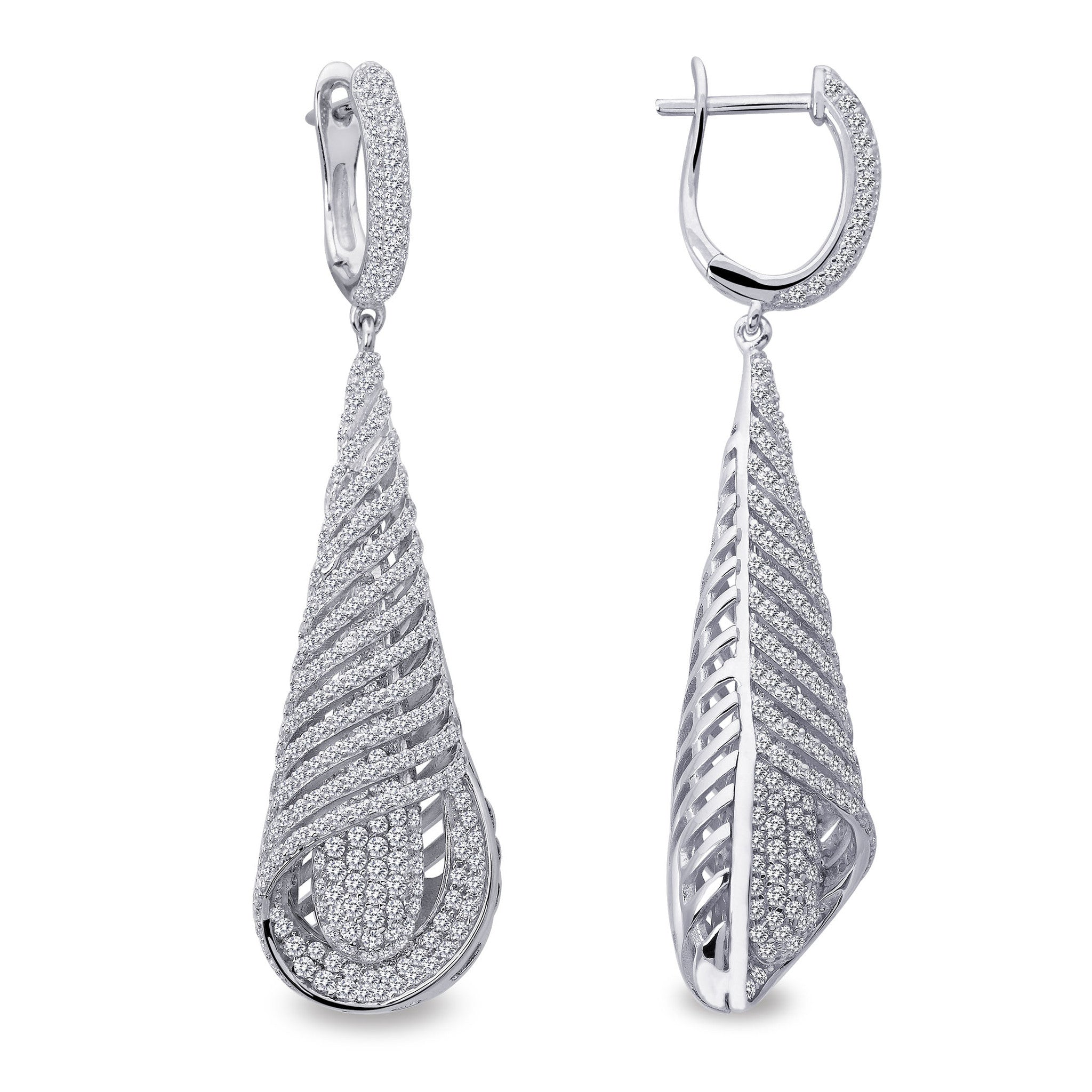 Red Carpet Sterling Silver and Platinum Earrings by Lafonn
