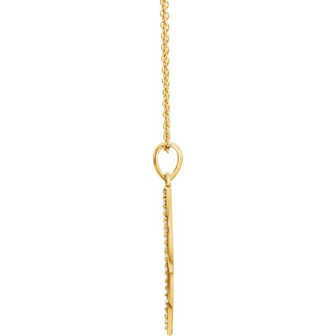 Angel Wing Yellow Gold Diamond Necklace