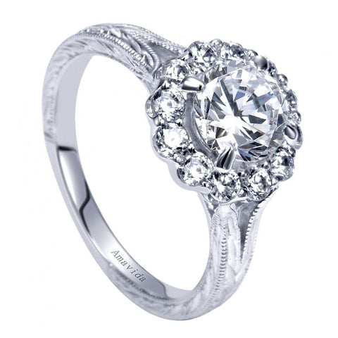 milgrain style grande ben products filigree ring gabriel garelick amavida chelsea diamond rings engagement