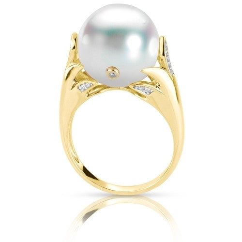 Windsor Pearl and Diamonds 14k Yellow Gold Ring by Imperial
