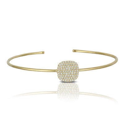 Art Deco Yellow Gold Diamond Bangle