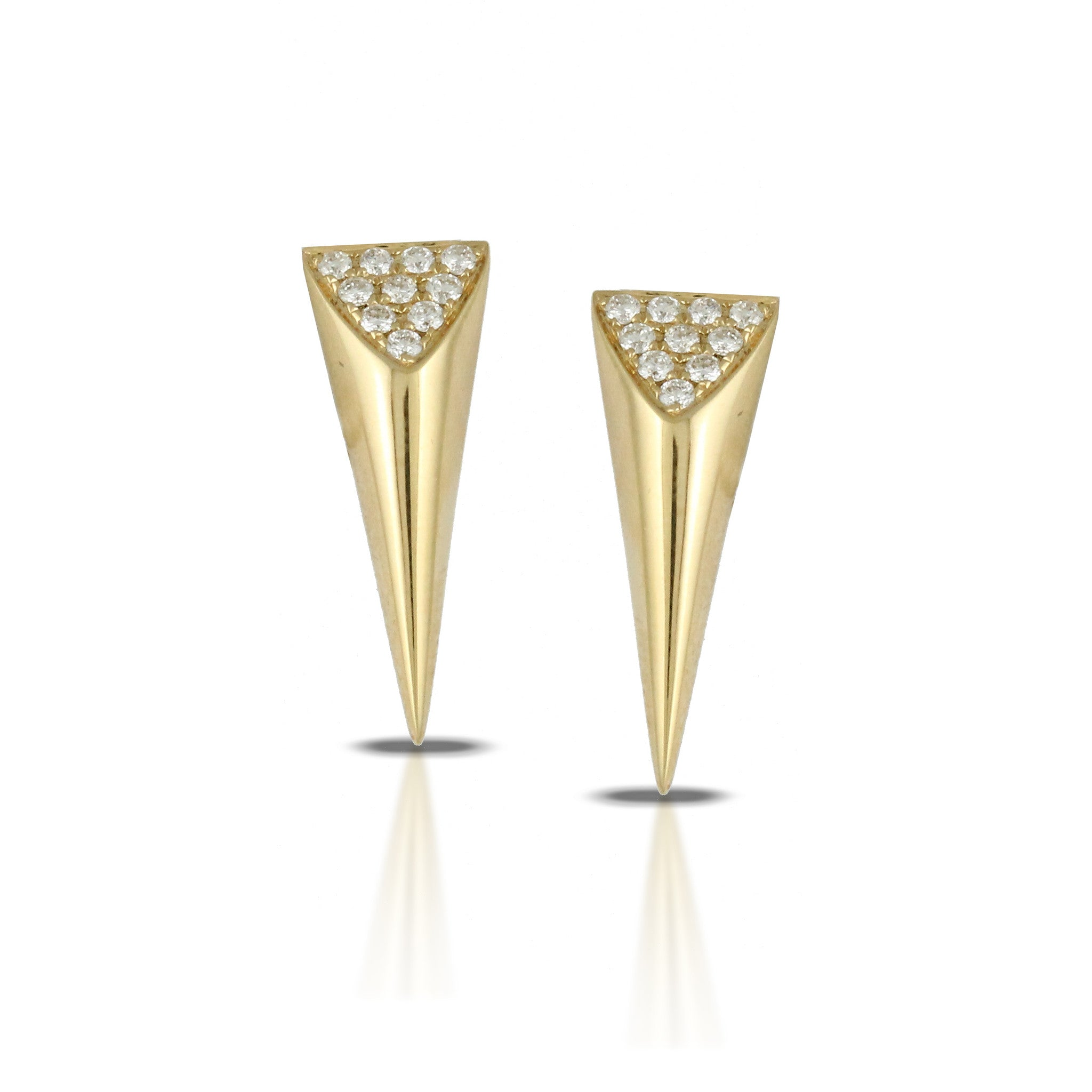Doves Ladies'18k Yellow Gold Diamond Geometric Earrings by Doron Paloma