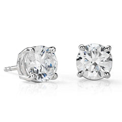 Round Brilliant Diamonds Studs with Friction Backs
