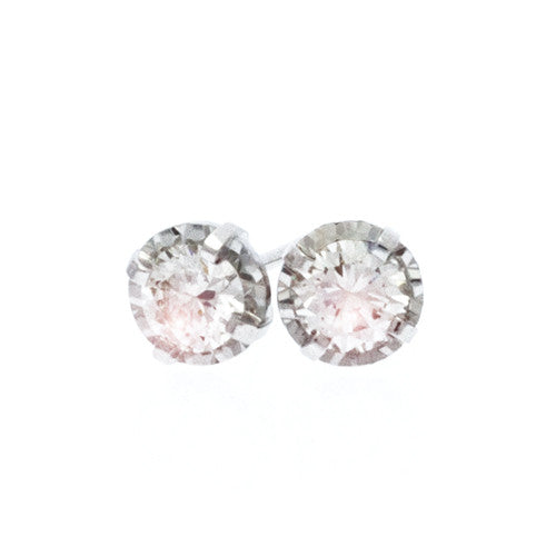 Half Carat Illusion Set Diamond Studs in Round Shape