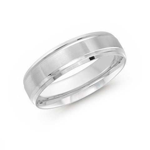 Malo Men's 10k White Gold Wedding Band With Satin Finish