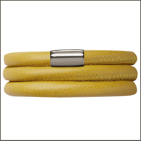 Endless Personalized Collection Leather Bracelet in Yellow with Silver