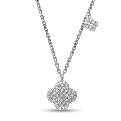 Flower Diamond Pendant by Jewelry Designer Luvente