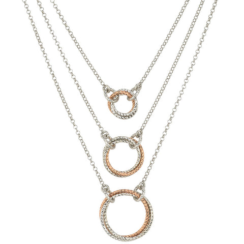 Frederic Duclos Sterling Silver and Rose Gold Necklace