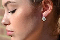 Octagon Shaped Diamond Fashion Earrings
