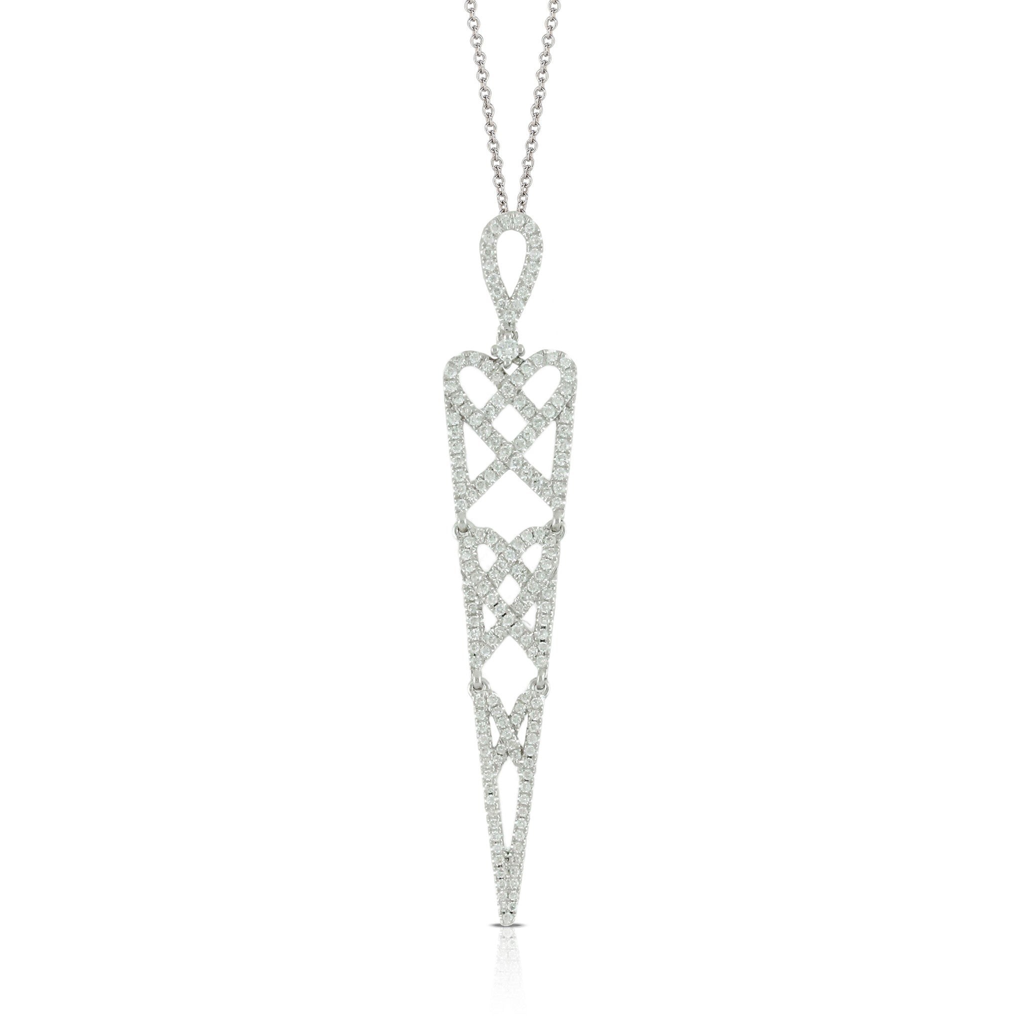 u diamond white pendant in gold i