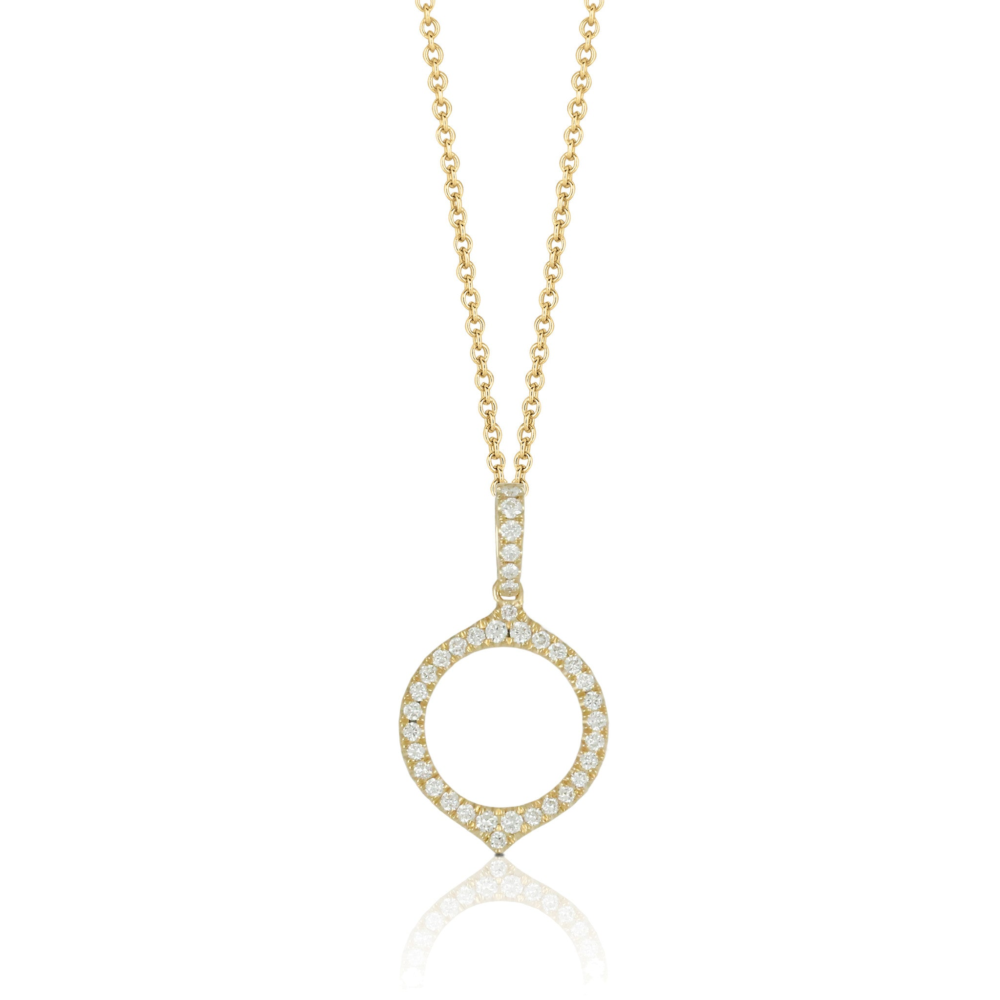 necklace pink round necklaces sterling zoom pendant simply halo silver rose jewellery gold plated cubic zirconia
