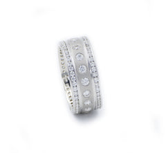 Men's Platinum Diamond Wedding Band Eternity Style