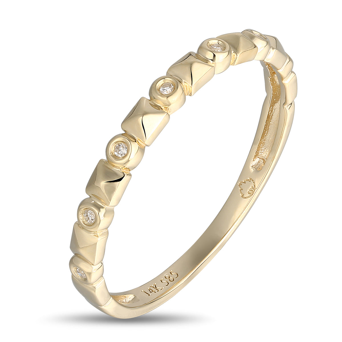 Yellow Gold Diamond Band by Jewelry Designer Luvente