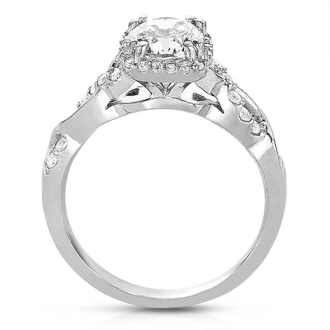 Ladies' 14k White Gold Diamond Engagement Mounting