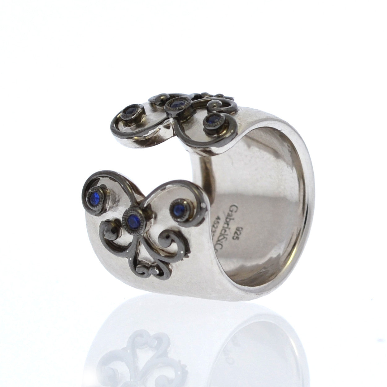 Sterling Silver and Sapphires Ring