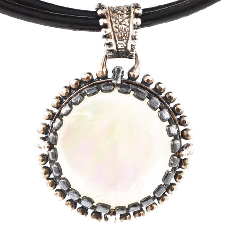 Sterling Silver Mother of Pearl Necklace