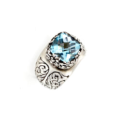Sterling Silver and Sky Blue Topaz Fashion Ring