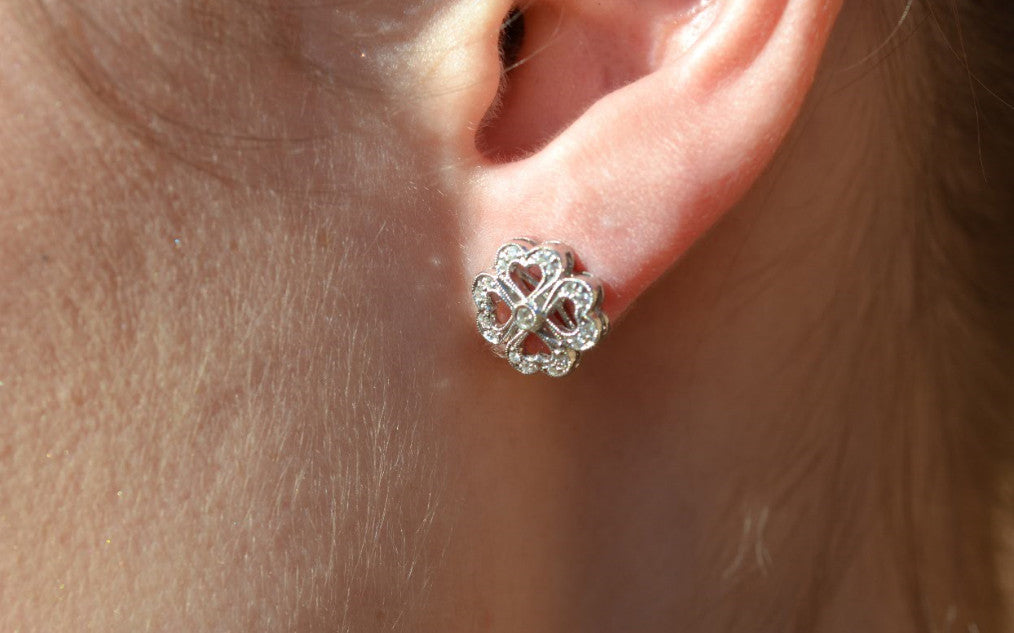 Shamrock Diamond Fashion Earrings