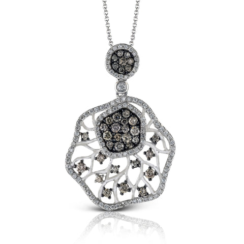 Zeghani Diamond 14k White and Black Gold Pendant by jewelry designer Simon G