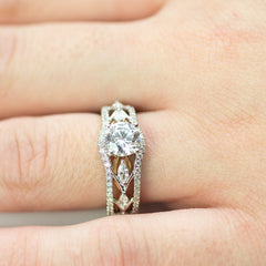 Simon G White and Rose Gold Engagement Mounting