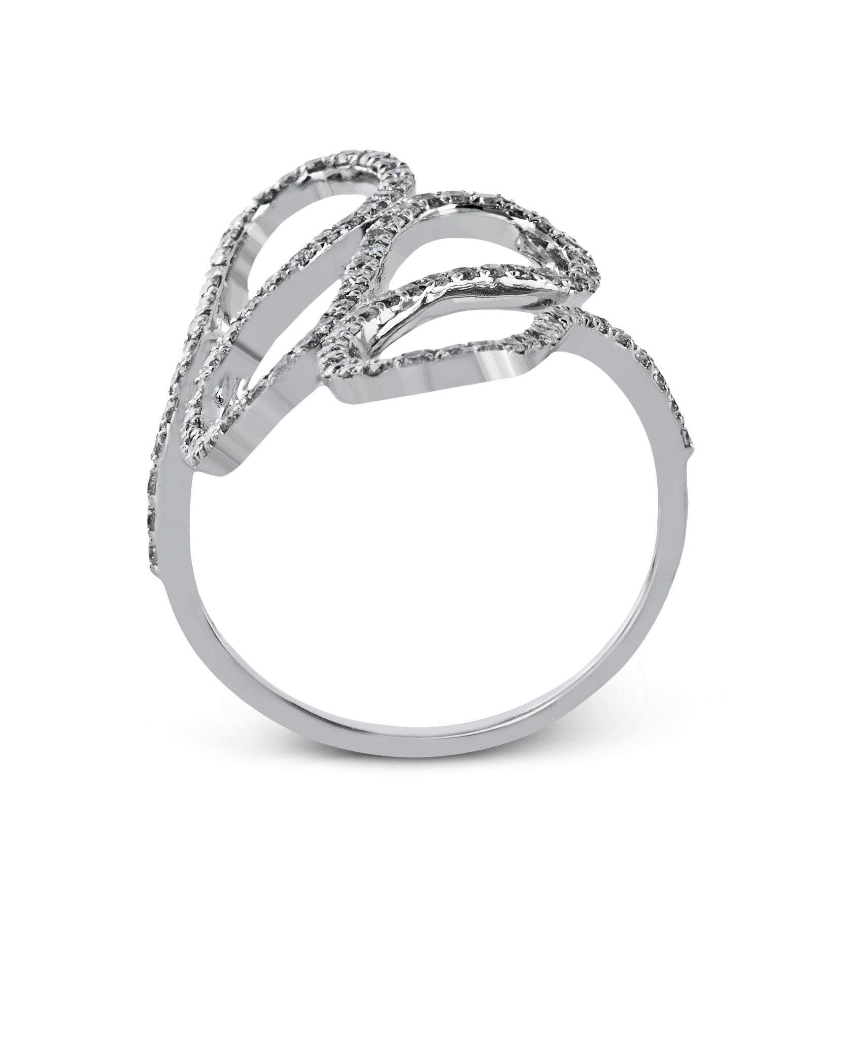 Zeghani Diamond 14k White Gold Fashion Ring