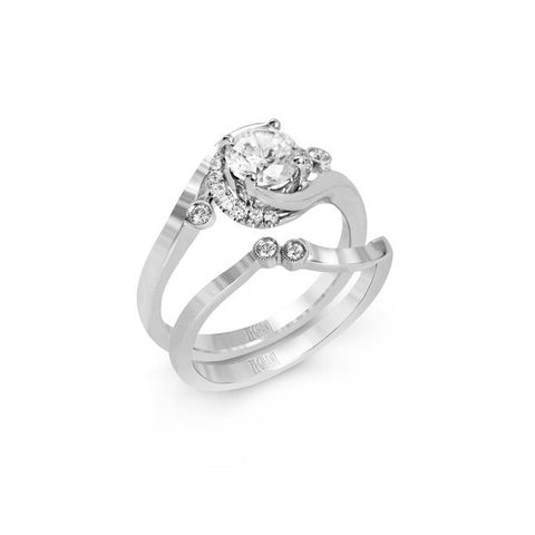 Ladies' Bypass 14k White Gold Engagement Mounting by Simon G