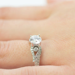 Simon G Diamond and Gold Engagement Mounting