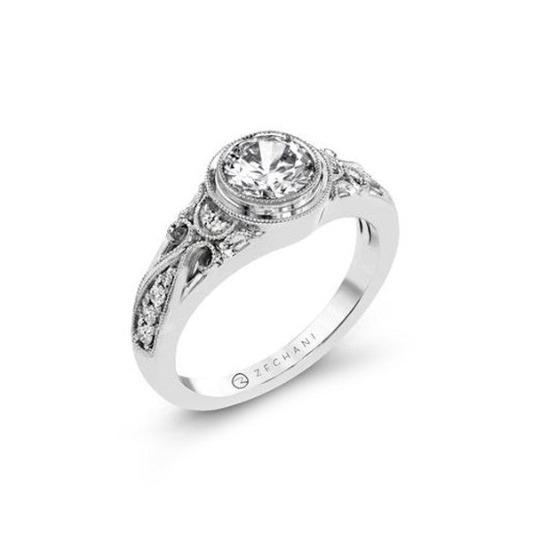 Simon G Bezel FIligree Engagement Mounting