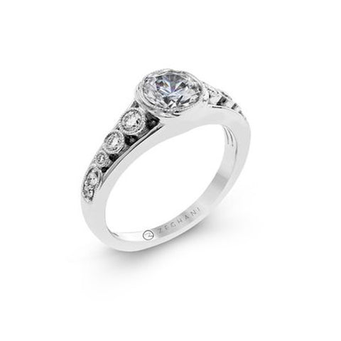 Simon G Bezel White Gold Engagement Mounting