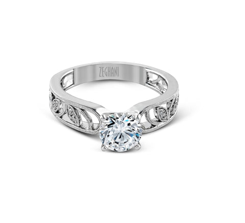 14k White Gold Diamond Engagement Ring Zeghani by Simon G