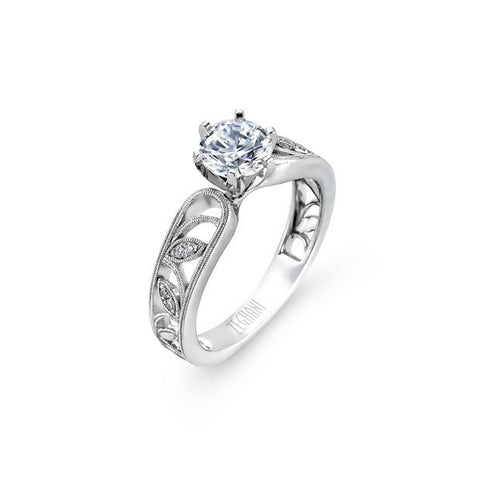 Ladies Organic Filigree White Gold Engagement Mounting by Simon G