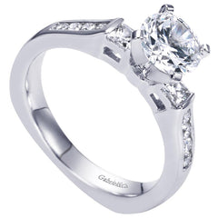 Three Stone Diamond Engagement Channel Set Mounting