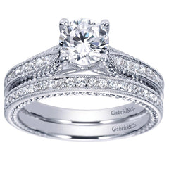 Fancy Tiffany Style Rope Design Diamond Engagement Mounting