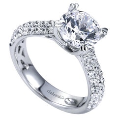 Royal Pave Fancy Tiffany Diamond Engagement Mounting