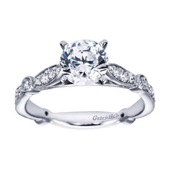 Fancy Solitaire White Gold Diamond Engagement Ring