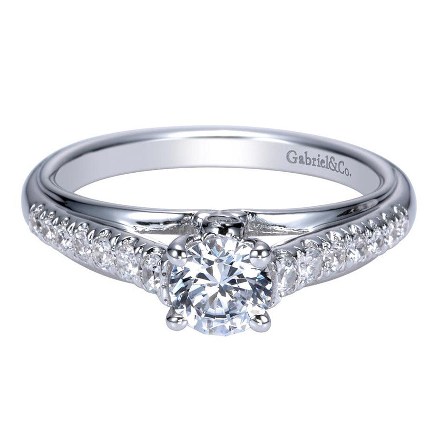 Fancy Solitaire Diamond Engagement Ring