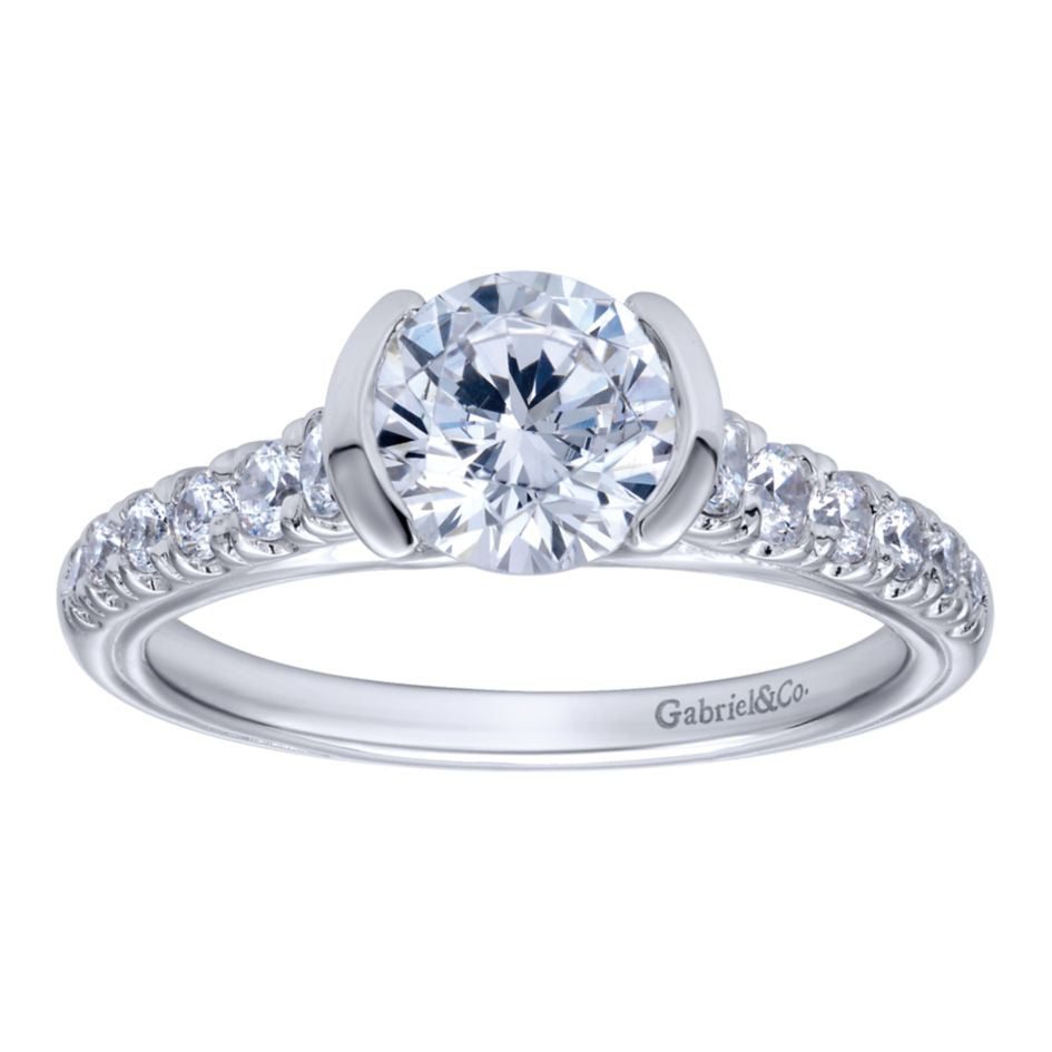 Ladies' 14k Diamond Pave Engagement Ring by Jewelry Designer Gabriel and Co