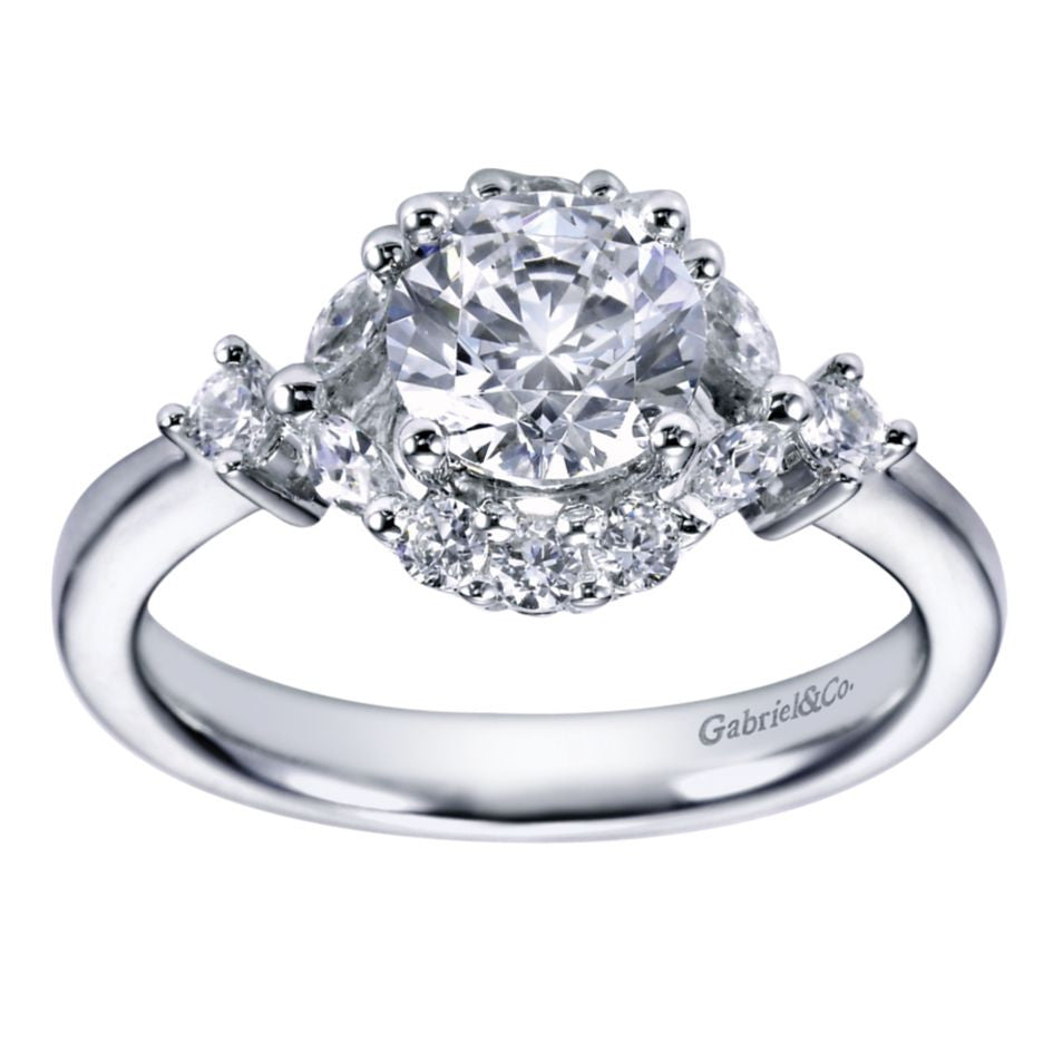 engagement toronto diamond vintage round dimond pear rings ring