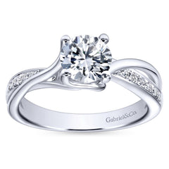 Ladies' Bypass 14k Pave Diamond Engagement Ring by Bridal Jewelry Designer Gabriel and Co
