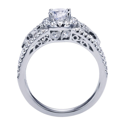 Split Shank White Gold Diamond Engagement Ring