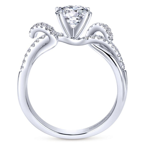 Waves Diamond Engagement Mounting