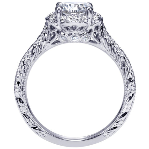 Ladies' Petals 14k White Gold Diamond Engagement Mounting
